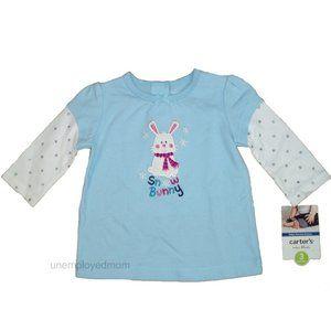 Easter Tee Bunny T Shirt Top Carters Long Sleeve